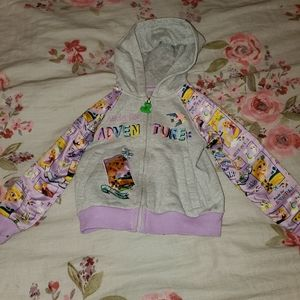 Rapunzel zip up sweatshirt